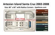 "Artesian Spas Island Santa Cruz Spa Cover Size: 80"" x 60"" Rounded Corners 2002-2008 Deluxe Heavy Duty Snow Load Cover"
