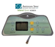2 Pump 2007-2011 Artesian Spas™ Island Series 800D & 801D Topside Control Panel With Overlay Sold As Kit, 33-0655-08-2P