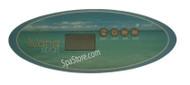 1 Pump 33-0430-40-1P Artesian Island Spas Topside Control Panel Pump 1, Light, Temp Up, Temp Down