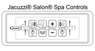 JACUZZI® Fuzion® Bath Tub Salon® Spa Jetted Topside Controller Panel