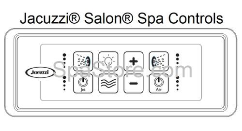 JACUZZI® Fuzion® Bath Tub Salon® Spa Jetted Topside Controller Panel