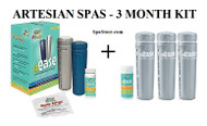 Artesian 3 Month Kit Spa Frog @Ease Inline Chlorine Spa Sanitize System 96-0030-22-KIT