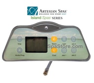 3 Pump 2007-2011 Artesian Spas™ Island Series 800D & 801D Topside Control Panel With Overlay Sold As Kit, 33-0655-08-3P