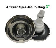 "3"" Rotating Artesian Island Spas Jet Insert 03-3301-52 C-Helix Stainless Graphite Dark Gray 2013+"
