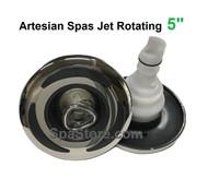 "5"" Rotating Artesian Island Spas Jet Insert 03-3501-52 C-Helix Stainless Graphite Dark Gray 2013+"