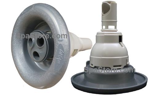 "Cal Spa Jet Insert 5.5"" Tri Flow Nozzles Rotating Gray"