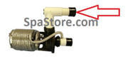 """Softub Special Order Part- Top Pump Pipe 3-3/8"""" pump nut / union connector"""