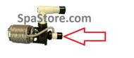 "Softub Special Order Part- Bottom Pump Pipe Black Nut Union is 2.75"" Diameter"