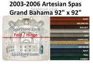 "Spa Cover Artesian Spas Island Grand Bahama 2003-2006 Size: 92"" x 92"" With Rounded Corners"