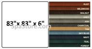 """Balboa Spa Cover Custom 83"""" x 83"""" x 6"""" Rounded Corners"""