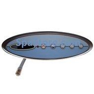 """Topside Control For 2 pump systems 5 Button: Up, Down, Light, Jets 1, Jets 2 10"""" x 3-1/4"""""""