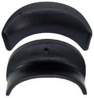 Dynasty Spas® OEM 10420 Neck Pillow Black with 1 Mounting Post Backside of Headrest Replaced 10958 Logo Pillow