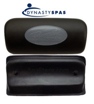 Dynasty Spas® OEM Pillow Lounger Black 2 Mounting Pins Backside of Headrest Replacement 1454 Logo Pillow
