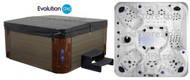"""Replacement Black Fits Brown Cabinet Spa Cover Costco® Evolution Spas Model Oxford 121 Jets Heavy Duty 5-3"""" Tapered"""