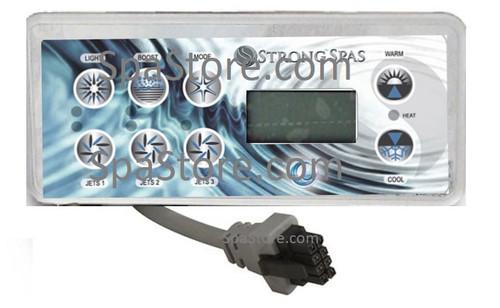 "Strong Spas TopSide Control Panel Light Boost Model Jet 1 Jet 2 Jet 3 Warm Cool Size 7-1/4"" x 3-1/4"""