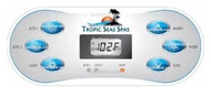 Overlay Only Tropic Seas Spas Control Panel Topside Display 6 Button 2 Pump Overlay Decal Sticker
