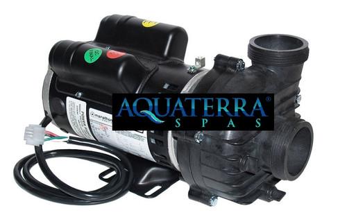 AquaTerra Spa Filtration Pump 1 Speed Replaced Obsolete 5KCP39TN4212X Marathon 2.0HP Power Right PRC4212X 2 Speed, 230 Volt, 56 Frame, Pump/Motor. Amps: 8.4/1.8
