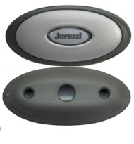 2002 OEM Jacuzzi® J-370 Pillow Center Lit Headrest Oval Insert and Base Mount Genuine OEM Two Tone Exact Fit