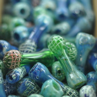 "3"" Web Slinger Blue and Green Chillum"