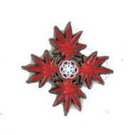 Chakra Leaves Hat Pin Red