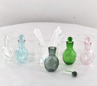 Glass Dish w/ Vial and Stopper - Dab Cleaning Set (Assorted Colors)