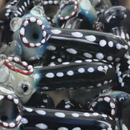 "4"" Black & White Polka Dot Party Glass Hand Pipe"