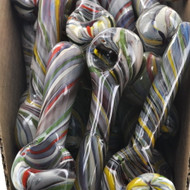 "4"" Fruit Flavored Candy Cane Glass Hand Pipe"