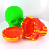 "Silicon Skull Container 500ml 5"""