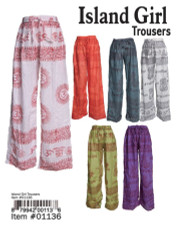Island Girl Printed Trousers