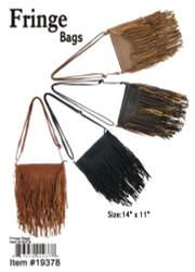 Faux Leather Fringe Bag