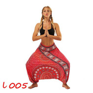 Magical Red Hankerchief Paisley Lantern Harem Pants (One Size) YCL-005