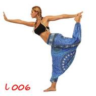 Magical Blue Hankerchief Paisley Lantern Harem Pants (One Size) YCL-006