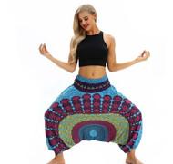Blue & Purple Mandala Lantern Harem Pants (One Size) YCL-049