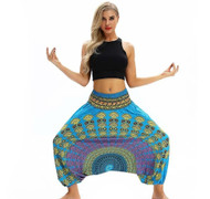 Blue Mandala Group Lantern Harem Pants (One Size) YCL-050