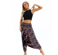 90'S Outdoor Ladies Paisley Lantern Harem Pants (One Size) YCL-044