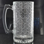 Sacred Geometry Laser Engraved Heavy Glass 24oz Beer Stein (Full Wrap)