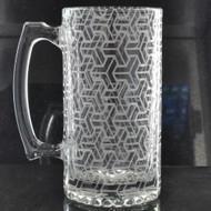 Sacred Geometry Laser Engraved Heavy Glass 24oz Beer Stein (Full Wrap)