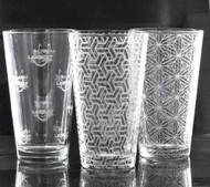 Sacred Geometry Laser Engraved Libbey 1639 16oz Mixing Glass (Full Wrap) (Assorted Styles)