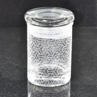Sacred Geometry Laser Engraved Small Clear Glass Jar (Full Wrap)
