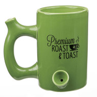 """GREEN """"ROAST AND TOAST"""" MUG 82368"""