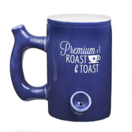 """BLUE """"ROAST AND TOAST"""" MUG 12296"""