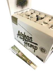 Afghan Hemp King Size Natural Unrefined Cone Rolling Papers (24 Ct Box)