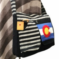 Cotton Colorado Flag File Bag