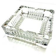 """Square Glass Ashtray 6x6"""""""