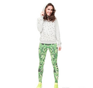 Stretch Leggings Weed Leaves V2 J31734 (Universal Sizing)