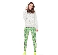 Stretch Leggings Weed Leaves V2 J31734 (Universal Sizing)