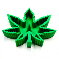 Silicone Marijuana Leaf Ashtray Debowler Assorted Color 1 Count