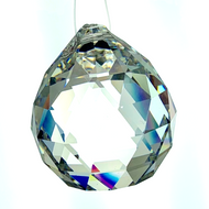 20mm Crystal Faceted Ball Leaded CR92400/20L .75""