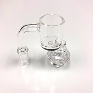Flat Top Banger w/ Pearls & Carb Cap 14mm Male