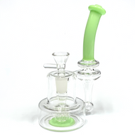 """Milky Recycler Puck Water Pipe 7.45"""""""